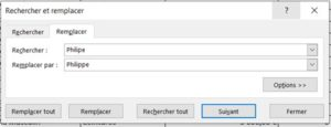 Formation Excel pour le Rechercher et Remplacer_2