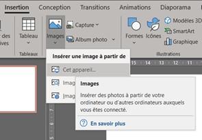 Formation en PowerPoint pour insérer des images_1