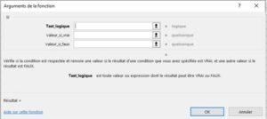 Formation Excel sur la fonction SI capture 3