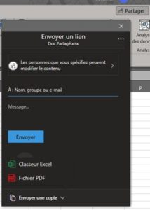 Formation Excel a distance partage de Classeur