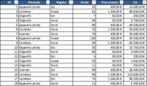 Formation Excel sur le calcul d'un sous-total dans une base de données-1