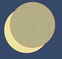 Figure 3. Formation Illustrator - créer un croissant