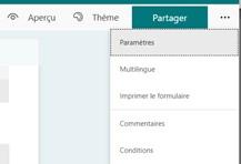 Formation Microsoft 365 à distance : les paramètres de Forms