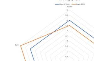 formation Excel à distance - écart graphique radar